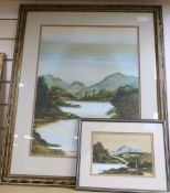 C. E. McLon, two watercolours, 'On Exmoor' and 'Scene in The Trossachs', largest 55 x 42cm