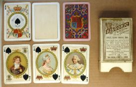 A c.1900 Goodall's Historic Playing Cards. Complete in original box damaged, missing ends.