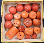 Assorted Chinese coral beads