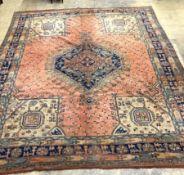 A Turkish hall carpet, 311 x 275cm