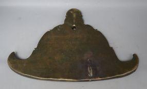 A 19th century Burmese bronze wind chime, width 40cm height 27cm
