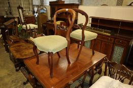 A set of six Victorian mahogany balloon-back dining chairs - a.f.