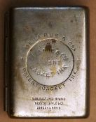 A 19th Century De La Rue & Co Silver metal Casket Inkwell in original metal case. 55 mms high.