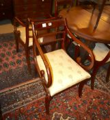 A set of eight Regency style mahogany dining chairs
