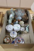 A collection of assorted Chinese and Japanese ceramics etc.