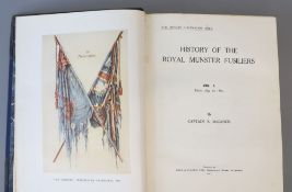 McCance, S. Capt - History of the Royal Munster Fusiliers, one of 114, 2 vols, qto, original half