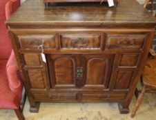 A Chinese cabinet, width 95cm, depth 50cm, height 95cm