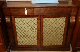 An early Victorian rosewood chiffonier, Width 109cm