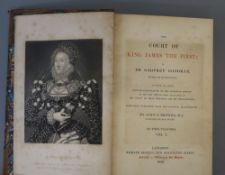 [Scott, Walter Sir] - Secret History of the Court of James the First, 2 vols, 8vo, half calf, with