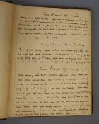 """Anon - A late 19th century Irish manuscript """"Hunting Diary"""" in 2 parts for the years 1886-7,"""