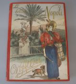 Allers, Christian Wilhelm - La Bella Napoli, folio, red cloth with pictorial front board, with 11