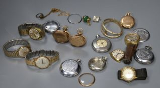 A quantity of assorted wrist and pocket watches.