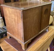 An Edwardian George III style mahogany small cabinet, width 71cm, depth 45cm, height 58cm