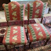 A set of six 18th century style upholstered dining chairs