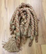 A collection of rope and tasselled tie-backs