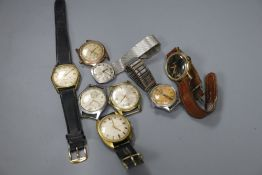 Eight assorted mainly gentleman's wrist watches including Avia & Westclox.