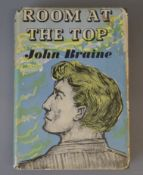 Braine, John - The Room at the Top, 8vo, in unclipped dj, with loss to head and foot of spine,