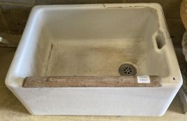An early 20th century Belfast sink, 63 x 47cm height 28cm