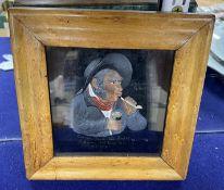 A wax bas-relief portrait of Soloman Grettiman