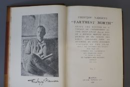 Nansen, Fridtjof, Dr - Farthest North, 2 vols, 8vo, half calf, with folding map, leather stained,