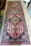 A Hamadan rug, 264 x 88cm