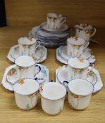 A Shelley twenty nine piece part tea service