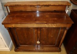 A William IV and later rosewood chiffonier, width120cm depth 45cm, height 116cm