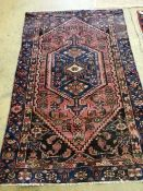 A Hamadan rug, 190 x 120cm