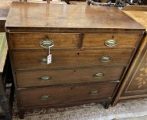 A Regency mahogany chest of drawers, width 91cm, depth 45cm, height 94cm