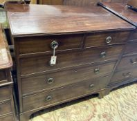 A 19th century mahogany chest of drawers, width 92cm, depth 50cm, height 91cm