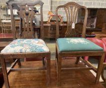 Two George III mahogany dining chairs
