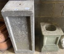 Two stone pedestals, tallest 76cm