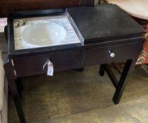 An Art Deco washstand, width 90cm, depth 44cm, height 75cm