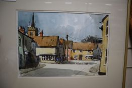 John Tookey (b.1947), watercolour, 'Nayland, Suffolk', 34 x 24cm