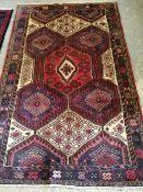 A Hamadan rug, 195 x 124cm