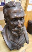 Richard Reginald Goulden (1876-1932). A bronzed plaster bust of Sir John Ross, height