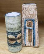 Two Troika vases, tallest vase initialled SK, 17cm