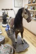 A Victorian push-a-long horse, length 64 height 68cm