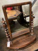 A Victorian mahogany toilet mirror, 52 x 58cm