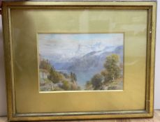 Ebenezer Wake Cook (1844-1926), watercolour, 'Uri-Rothstock, Lake of Lucerne, Switzerland',