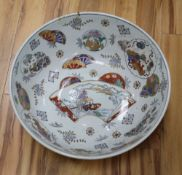 A modern Chinese style punch bowl, diameter 41cm