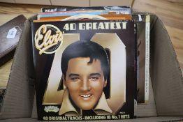Seventeen assorted albums, mainly Elvis Presley