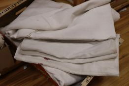 Five mixed French provincial linen sheets