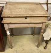 A Victorian pine clerk's desk, width 76cm, depth 56cm, height 88cm