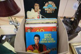 Nineteen assorted albums - mainly Elvis Presley