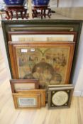 Various Victorian prints including views of Malvern, Royal Commemoratives together with a pair of