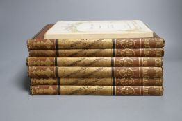 The Complete Works of William Hogarth, 150 steel engravings publ. by Mackenzie, in 6 vols, Ann
