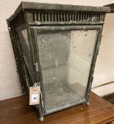 A Victorian brass wall light, width 33, depth 28cm, height 43cm
