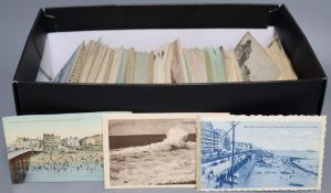 A collection of Edwardian postcards views of Brighton and Hove