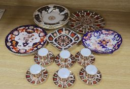 Royal Crown Derby 1128 pattern part coffee set, five further 1128 pattern items and assorted 19th